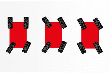 4 Antriebsräder & 3 Lenkarten